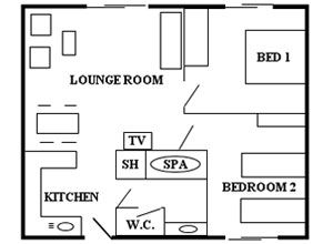 2 Bedroom Unit Floor Plan